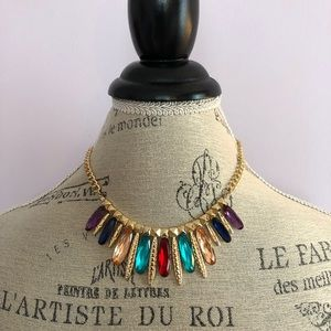 IMAN multi- color stone necklace
